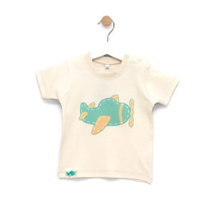 Camiseta Bebe Avioncitos Natural
